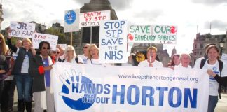 Hand off our Horton campaign, one of the many fighting to defend the NHS