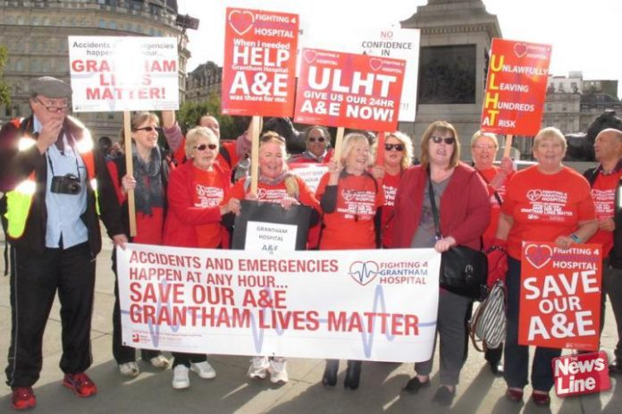 Grantham Hospital campaigners fighting to defend their A&E department – GP services in Lincolnshire were overwhelmed last month as the county's Scunthorpe hospital faced unprecedented demand