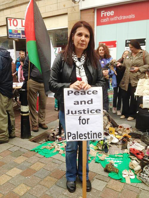 AVIGAIL ABARBANEL campaigning for Palestine