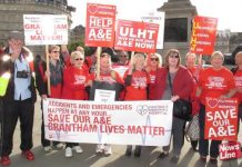 Hospital defence campaigns marched on Downing Street in October to demand an end to NHS cuts and closures