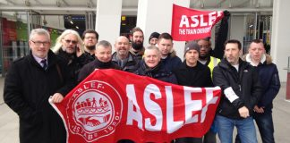 ASLEF Southern rail picket line – they have just rejected the sell-out deal