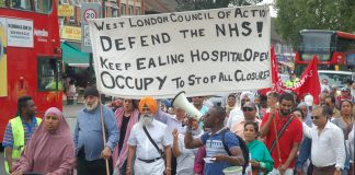March against the closure of Ealing Hospital – over 600 beds are under threat in north west London