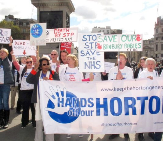 Planned STP cuts mean maternity services at Horton Hospital in Banbury are due for closure, endangering mothers' & babies' lives