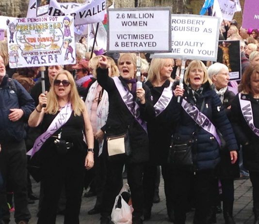 Women born in the 1950s, who lost out on their state pension when the government raised the retirement age to 65 for both men and women, lobbied MPs yesterday