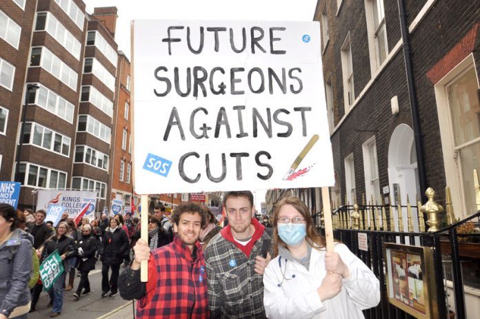 The NHS march earlier this month – the newly imposed junior doctors' contract threatens the next generation of A&E doctors