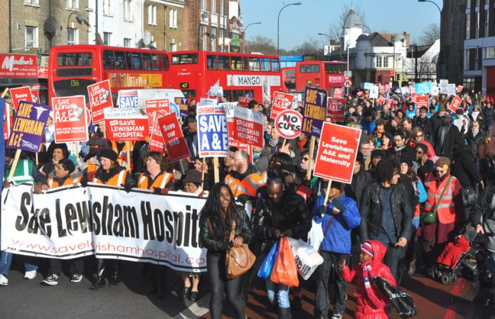 Marching to stop the closure of the A&E at Lewisham Hospital