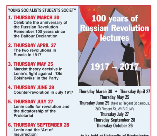 100 years of the Russian Revolution Lectures