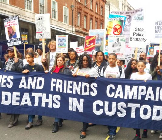 Friends and families of those who have died in police custody marching last October –  co-chair of the campaign, Stephanie Lightfoot-Bennett said the new police tactics will lead to more innocent citizens' deaths