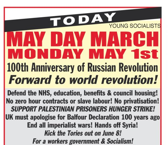 March With US Today On May Day
