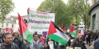 Palestinians march on May Day with Young Socialists – Labour has changed its election manifesto to include that a Labour government will recognise the state of Palestine