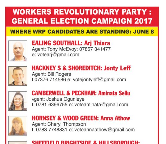 Wrp Launch Election Candidates