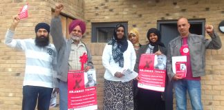 WRP candidate ARJ THIARA and his team got great support yesterday on the Golf Links estate near to the closure-threatened Ealing Hospital