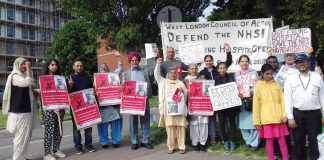 A great turnout for the picket of Ealing hospital to demand that it remains open, led by WRP Parliamentary candidate ARJINDER THIARA who is getting a lot of support