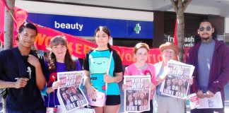 Youth were attracted to the WRP campaign stall and its revolutionary policies