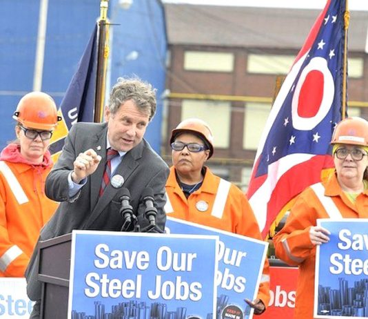Steel workers campaign to defend steel jobs threatened by the NAFTA trade deal