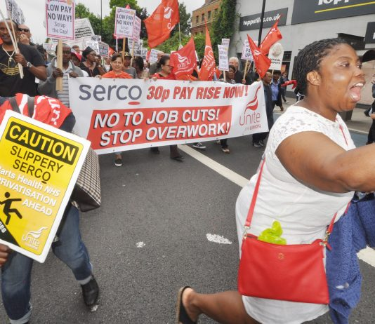 Low paid Serco workers are having to battle like hell for a 30p pay rise