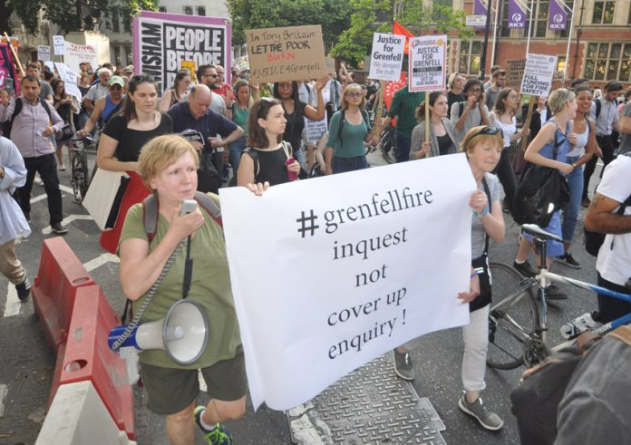 London marchers demand an inquest into the Grenfell fire accusing the inquiry of being a cover-up