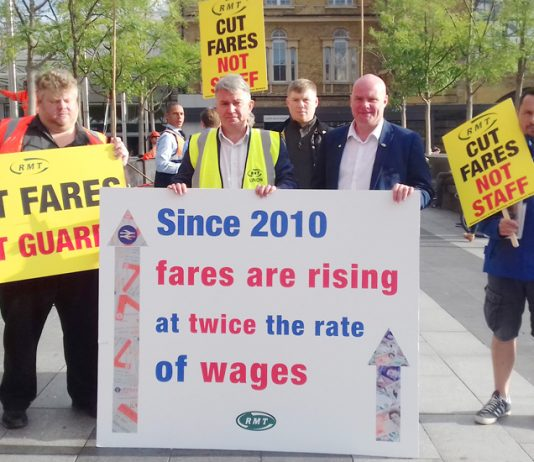 RMT general secretary MICK CASH and his assistant STEVE HEDLEY were adamant that in the interests of its passengers the rail industry must be renationalised
