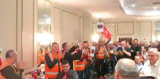 Birmingham binmen at the National Shop Stewards rally