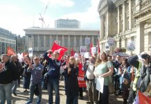 Birmingham binmen and their supporters rally last Sunday