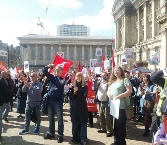 Birmingham binmen and their supporters rally last Sunday