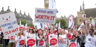 Nurses are not accepting the Tories' cap on their wages any longer