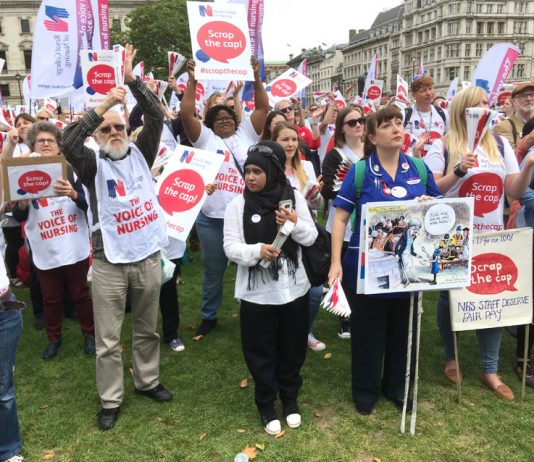Nurses battling against the pay cap are warning that it is responsible for the huge shortage of nurses