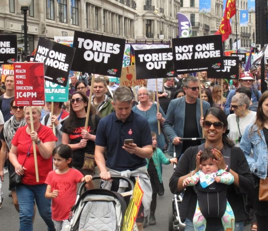The message of the hour for the Tory government – delivered during the march on parliament on July 1st