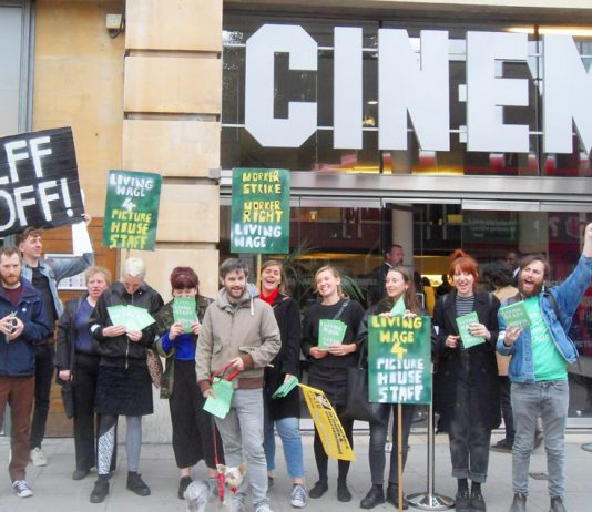 Saturday's lively Hackney Picturehouse picket line