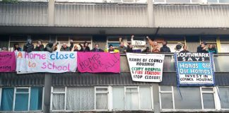 Campaigners prevent an eviction of a tenant by Southwark council