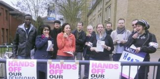 UCU picket line at Brunel University in west London