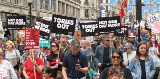 On July 1st 300,000 marched on Parliament after McDonnell urged them to do so – since then Labour has refused to call for the Tories to go