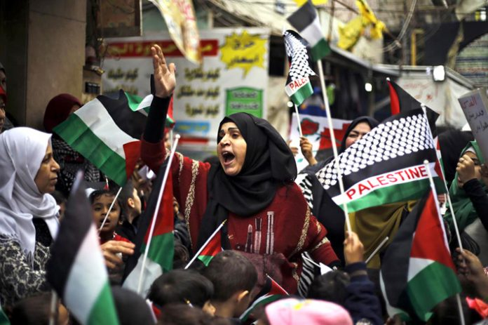 Palestinian women outraged at Trump's embassy move plan take to the streets