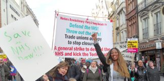 Nationwide march through London to defend the NHS – WRP & YS delegation demanding that the Sustainability and Transformation Plans (STPs) be thrown out!