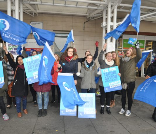 Midwives taking strike action over pay at the Chelsea and Westminster Hospital