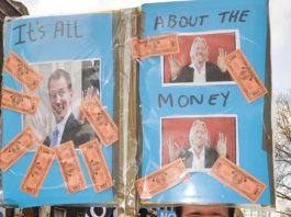 Marcher with no illusions on what NHS privatisation is about
