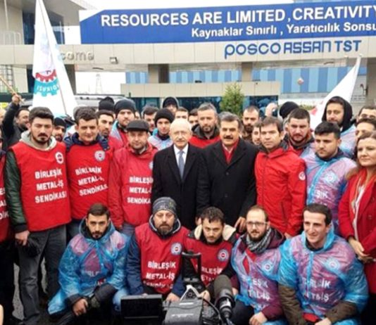 Industriall Global Union affiliate Birlesik Metal is fighting to represent 420 workers at Posco Assan in Turkey