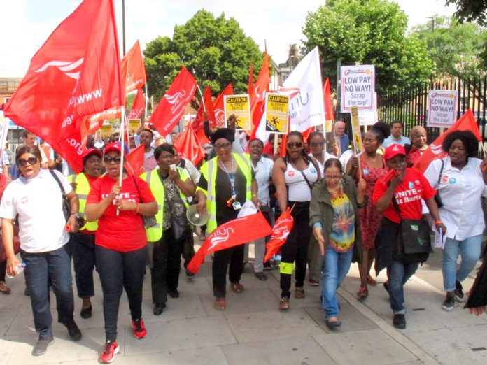 Cleaners, security and catering staff at the Royal London Hospital took strike action against their employer Serco last year