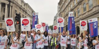 Nurses marching to demand that bursaries are restored to bring many more young people into the profession