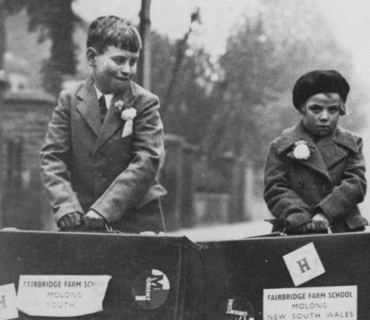 Two young children forced to go to Australia on one of the child migrant schemes creditMolong-Historical-Society