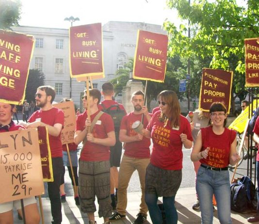 Picturehouse cinema workers striking for the 'Living Wage' – they have had enough of austerity