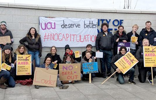 Students joined lecturers on the picket line at Aberdeen University yesterday morning demanding the UCU does not capitulate – by 4pm the deal had been rejected