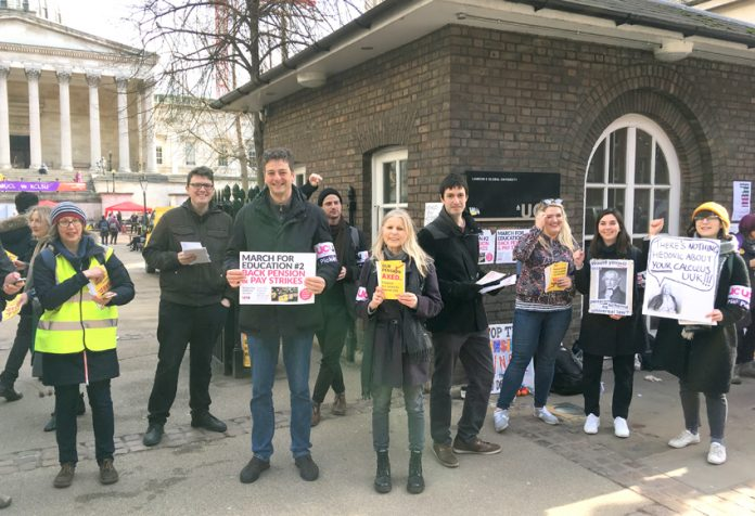 Pickets out in force at University College London