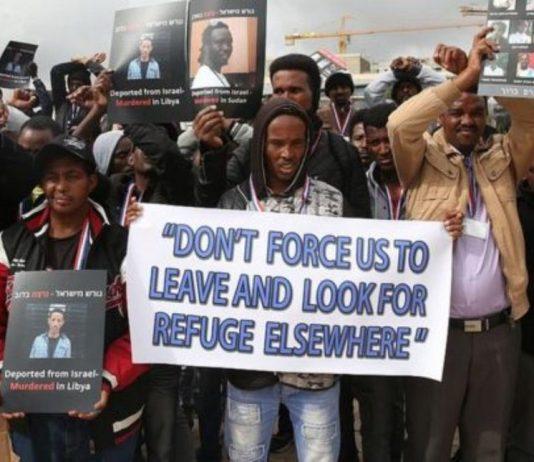 African migrants' demonstration in Tel Aviv