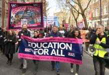 One of the big demonstrations in London during the 14 days of strikes – the employers have now made an offer