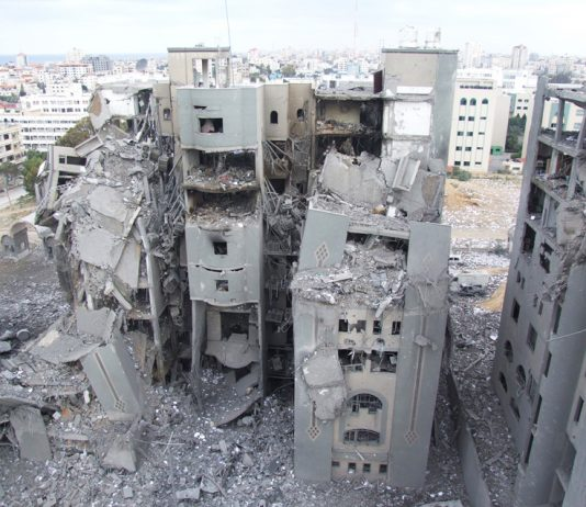 Destruction in Gaza in 2014 – over 3,000 Palestinians were killed during the Israeli offensive