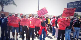SAFTU protest outside the NEDLAC offices against new anti-union laws