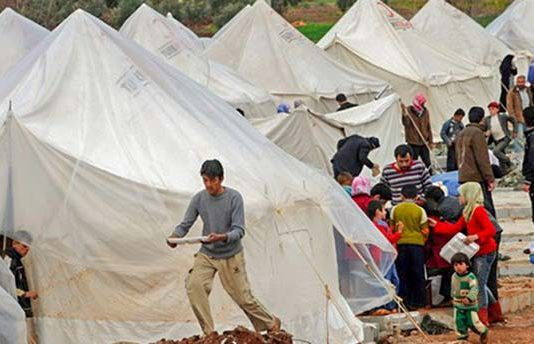 Living conditions for some of the 8,000 Palestinian refugees fleeing Syria to Turkey
