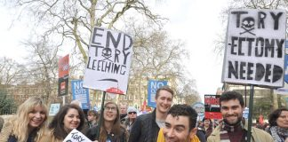 Young NHS workers march against Tory government cuts