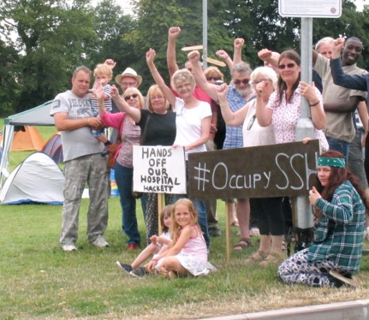 Staffordshire residents occupied Stafford Hospital grounds for eight months to stop the closure of the hospital's A&E Department